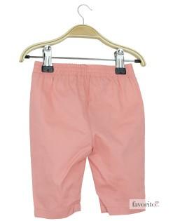 Pantaloni lungi bebe, fete, Peach, Grain de blé2