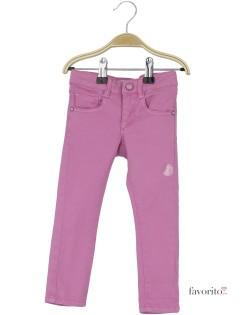 Pantaloni lungi pentru fete, Skinny by LISA ROSE-roz1