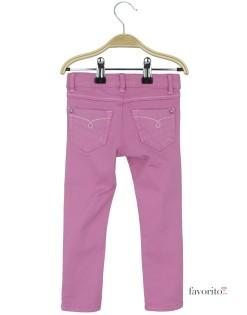 Pantaloni lungi pentru fete, Skinny by LISA ROSE-roz2