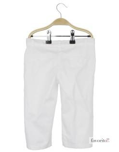 Pantaloni lungi pentru fete, alb, LISA ROSE2
