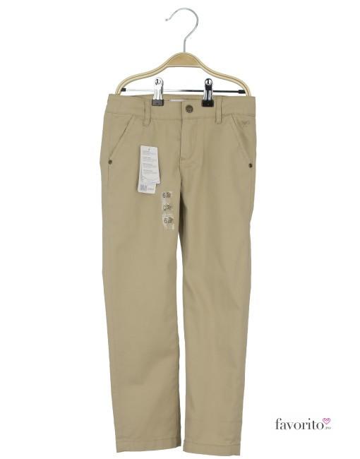 Pantaloni lungi pentru fete, crem, fundita tesuta, LISA ROSE1