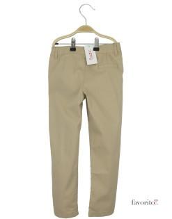 Pantaloni lungi pentru fete, crem, fundita tesuta, LISA ROSE2