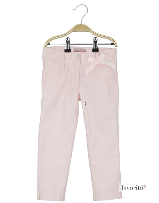 Pantaloni lungi pentru fete, roz, fundita, LISA ROSE1