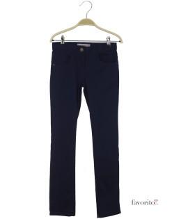 Pantaloni lungi pentru fete, slim, LISA ROSE-bleumarin1
