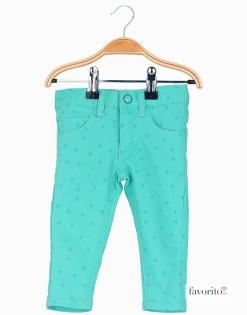 Pantaloni-lungi-pentru-fete,-turcoaz,-stele-LISA-ROSE1