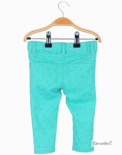 Pantaloni-lungi-pentru-fete,-turcoaz,-stele-LISA-ROSE2