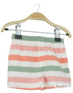 Pantaloni scurti bebe, dungi, baieti, Grain de blé1
