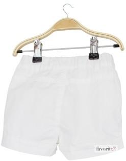 Pantaloni scurti bebe, snur, Grain de blé-alb2