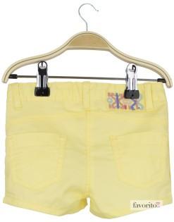 Pantaloni scurti fete, galbeni, LISA ROSE 2