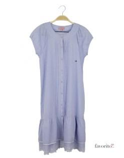 Rochie de zi pentru fete, vaporoasa, albastra, nasturi, LISA ROSE1