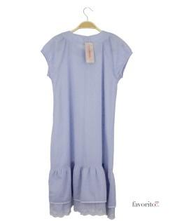 Rochie de zi pentru fete, vaporoasa, albastra, nasturi, LISA ROSE2