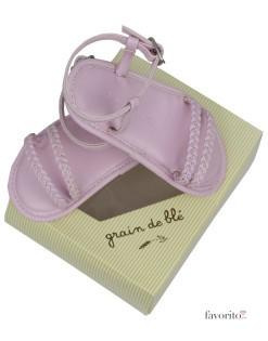 Sandale pentru fetite, roz, Grain de blé2