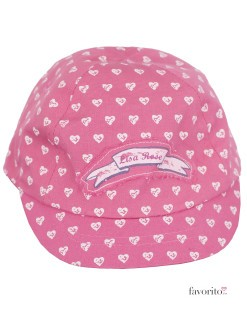 Sapca fete, roz, inimioare, LISA ROSE2