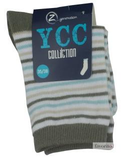 Sosete pentru copii, dungi color, YCC