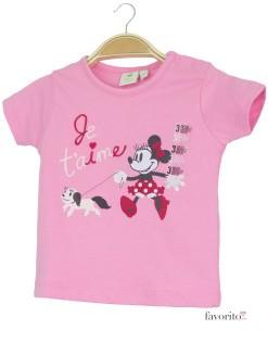 Tricou bebe roz, Je t'aime, Minnie Mouse1