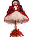 Compleu Rochita Maria de ocazie, include 4 piese (0-3-0-6 luni)-alb1