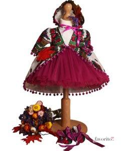 Compleu Rochita Maria de ocazie, include 4 piese (0-3-0-6 luni)-mov1