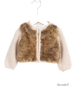 bolero-tricotat-cu-blanita-bebe-bej-6-24-luni-losan