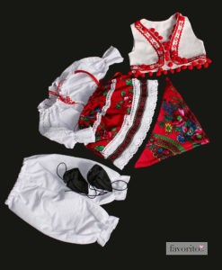Costum popular fetite, 6 piese (0-3-3-6 luni-1 an)-8