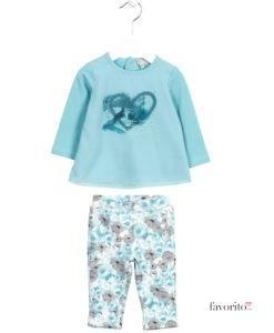 set-2-piese-fete-colanti-si-bluza-blue-heart-flower-imprint-albastru-6-24-luni-losan