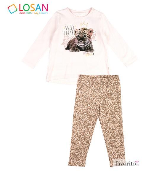 set-leopard-2-piese-fete-colanti-si-bluza-animal-imprint-roz-cu-bej-2-7-ani-losan-6