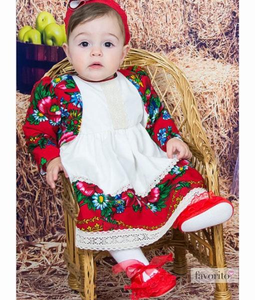 Compleu ILARIA cu rochita, bolero si bentita (0-3-3-6 luni-1 an)-4
