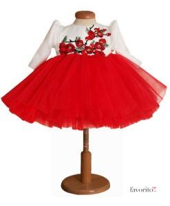 rochita-eleganta-cherry-3-piese-turban-si-bolero-matlasat-tul-bogat-rosu-2-3ani-2