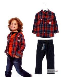 outfit-losan-si-ycc-baieti-2-4-ani-camasa-losan-carouri-rosii-si-jeansi-ycc