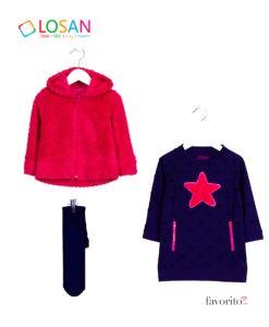 outfit-losan-fete-2-7-ani-navy-fucsia-set-cu-ciorapei-si-jacheta-polar