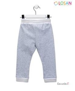 Pantaloni lungi din bumbac, fete, ROMANTIC LIFE, dantelati, LOSAN (2-7 ani)-2