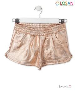 Pantaloni scurti sclipitori, fete, GLITTERY HOLOGRAPHIC CHIC, interior bumbac, LOSAN (8-16 ani)-1