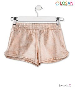 Pantaloni scurti sclipitori, fete, GLITTERY HOLOGRAPHIC CHIC, interior bumbac, LOSAN (8-16 ani)-2