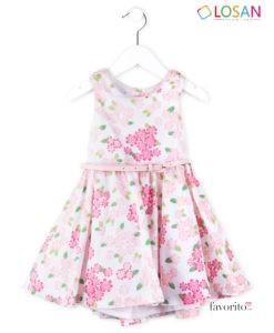 Rochita eleganta CHIC FLOWER, curea inclusa, roz, LOSAN (2-7 ani)-1