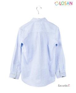 Camasa cu maneca lunga baieti, albastru deschis, LOSAN (8-16 ani)-2