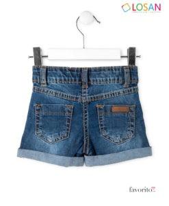 Pantaloni scurti denim, fete, Fun Sun, LOSAN (2-7 ani) -2