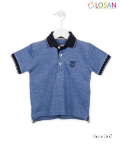 Tricou POLO baieti, albastru, Mini Chic Gentleman, LOSAN (2-7 ani) -1