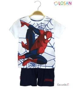 Set MARVEL baieti, tricou si bermude, Spiderman,LOSAN (2-7 ani)-1