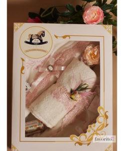 Trusou roz pentru botez, set cu 7 piese-5