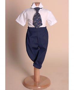 Costumas Felix elegant, mini gentleman, carouri rose (0-3-3-6 luni)-3