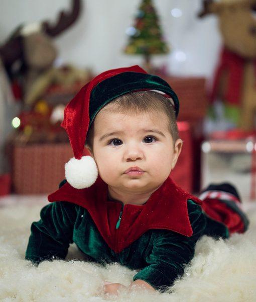 Costumas Micutul Spirudus Elfi (0-3- 3-6 luni)-4