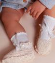 Botosei tricotati alb-ivoire-2