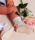 Botosei tricotati alb-ivoire-3