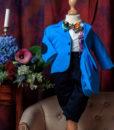Costumas elegant Vladimir, costumas botez, set 5 piese, albastru ( 0-3-3-6 luni)-1