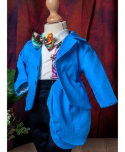 Costumas elegant Vladimir, costumas botez, set 5 piese, albastru ( 0-3-3-6 luni)-2