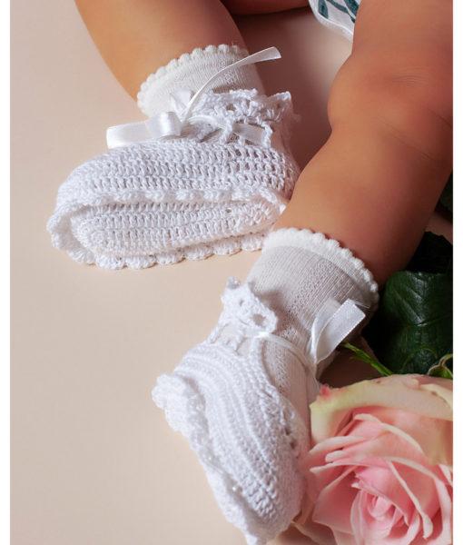 Botosei albi tricotati, Snow White-1