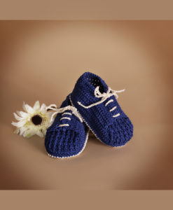 Botosei crosetati bebe, bleumarin-1