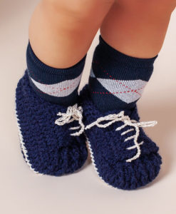 Botosei crosetati bebe, bleumarin-2