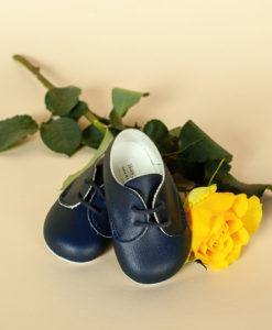 Pantofiori bebe, bleumarin, piele ecologica, Baypods UK-1