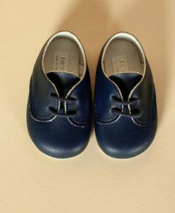 Pantofiori bebe, bleumarin, piele ecologica, Baypods UK-4