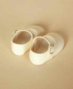Pantofiori lacuiti din piele ecologica, ivoire, Baypods UK (16-17-18)-4